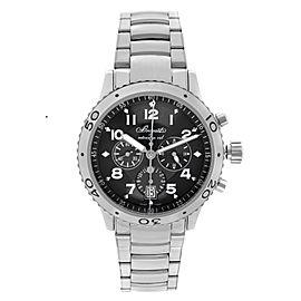 Breguet Transatlantique Type XXI Steel Flyback Ruthenium Dial Watch 3810ST/92/SX