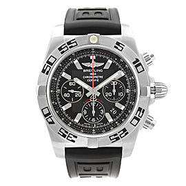 Breitling Chronomat 44mm Steel Black Dial Automatic Mens Watch AB0116