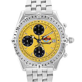 Breitling Chronomat The World is Yours Yellow Dial LTD Edition Mens Watch A20048