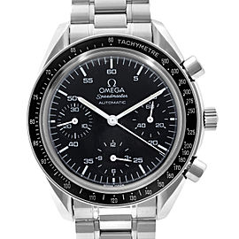 Omega Speedmaster 39mm Reduced Steel Black Dial Automatic Mens Watch 3510.50.00