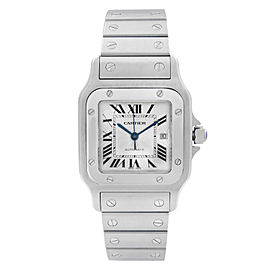 Cartier Santos 29mm Stainless Steel Silver Dial Automatic Mens Watch W20055D6