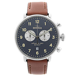 Shinola The Canfield Stainless Steel Blue Dial Quartz Mens Watch S0120001940