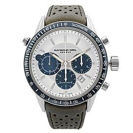 Raymond Weil Freelancer 43.5mm Leather Steel Automatic Mens Watch 7740-SC3-65521