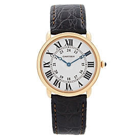 Cartier Ronde Louis 36mm 18K Rose Gold Silver Dial Hand-Wind Mens Watch W6800251