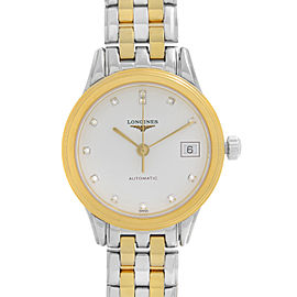 Longines Flagship Two-Tone White Diamond Dial Automatic Ladies Watch L42743277