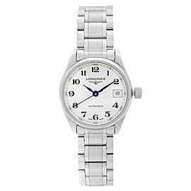 Longines Master Collection Steel White Dial Automatic Ladies Watch L2.128.4.78.6