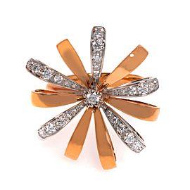 Luca Carati 18K Rose Gold Diamond Cocktail Ring Size 6.5 0.59Cttw KC353