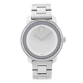 Movado Bold 36mm Stainless Steel Diamond Silver Dial Quartz Ladies Watch 3600149