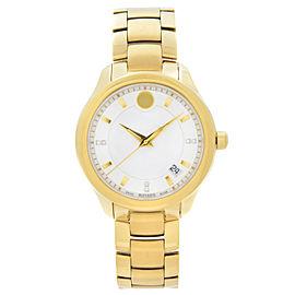Movado Bellina Steel Yellow Gold PVD MOP Dial Quartz Ladies Watch 0606980