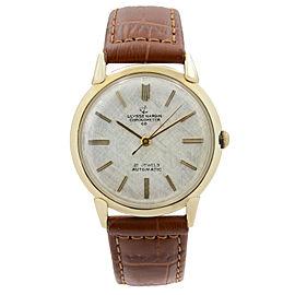 Vintage Ulysse Nardin 34 mm 14k Yellow Gold Saddle Leather Automatic Mens Watch