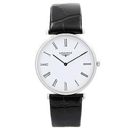 Longines La Grande Classique Steel White Dial Leather Strap Mens Watch L47094112