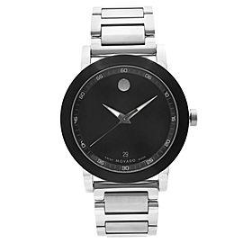 Movado Museum Sport Stainless Steel Black Dial Quartz Mens Watch 0606604
