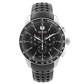 Movado Series 800 Chronograph Steel Black Dial Quartz Mens Watch 2600096