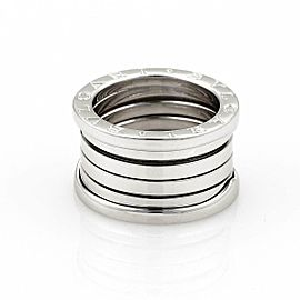 Bvlgari Bulgari B Zero-1 18k White Gold 13mm Band Ring Size EU 51-US 5.25