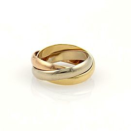 Cartier Trinity 18k Tri-Color Gold 3.5mm Rolling Bands Ring Size EU 47-US 4