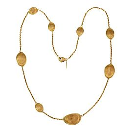 Marco Bicego Africa 18k Yellow Gold Oval Bead Station Necklace