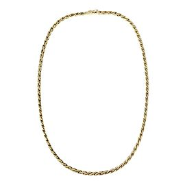 Tiffany & Co. Germany 14k Yellow Gold 3mm Textured Braided Necklace