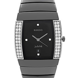 Rado Sintra Jubile Ceramic Diamond Black Dial Quartz Ladies Watch