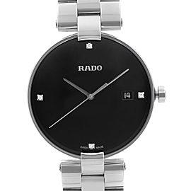 Rado Coupole Stainless Steel Black Diamond Dial Quartz Ladies Watch