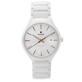 Rado True White High-Tech Ceramic Silver Dial Automatic Unisex Watch R27058112