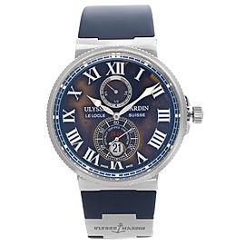 Ulysse Nardin Maxi Marine 43mm Steel Blue Dial Automatic Mens Watch 263-67-3/43