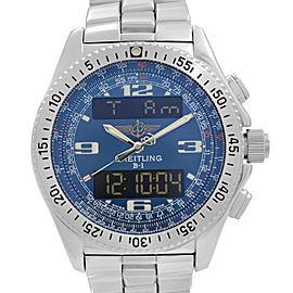 Breitling B1 Chronograph Steel Analog-Digital Blue Dial Mens Quartz Watch A68362
