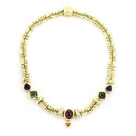Seidengang 14.82ct Diamond & Tourmaline 18k Yellow Gold Double Strand Necklace