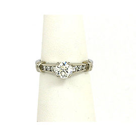 New Scott Kay Diamond Platinum Mounting Solitaire w/Accent Engagement Ring