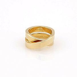 Cartier 18K Yellow Gold Nouvelle Vague Paris Crossover X Designer Ring - Size 48