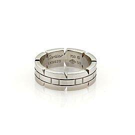 Cartier Tank Francaise 18k White Gold 6mm Band Ring Size EU 50-US 5.25