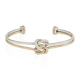 Gucci 18k Rose Gold 925 Silver Double Love Knot Cuff Bracelet