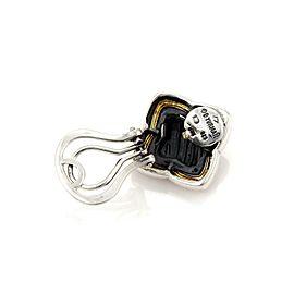 David Yurman Sterling 14k Yellow Gold Quatrefoil Cable Post Clip Earrings