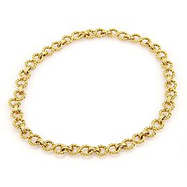 Tiffany & Co. 18k Yellow Gold Infinity Style Wire Link Necklace