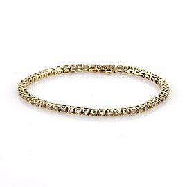 Estate 3ct Diamond 14k Yellow Gold Tennis Eternity Bracelet
