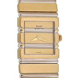 Piaget Polo Square 18k Two Tone Gold Men's Quartz Wrist Watch C701