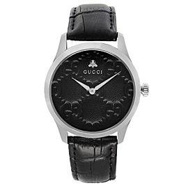 Gucci G Timeless 38mm Stainless Steel Black Dial Quartz Mens Watch YA1264031