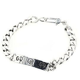 GUCCI 925 Silver Ghost Chain bracelet TBRK-482