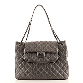 Chanel Classic Flap Shopping Tote Quilted Caviar Large