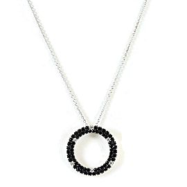 Roberto Coin Fantasia Sterling Silver Black Sapphire, Diamond Necklace
