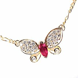 Butterfly Necklace K18 yellow gold Women