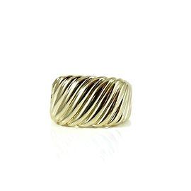 David Yurman Sculpted Cable 18k Yellow Gold Ring