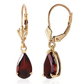 2.45 CTW 14K Solid Gold Leverback Earrings Garnet