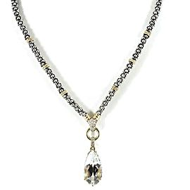 Lagos Glacier Sterling Silver White Topaz, Diamond Necklace
