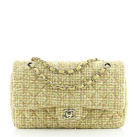 Chanel Classic Double Flap Bag Quilted Tweed Medium