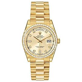 Rolex DayDate Presidential 18K Yellow Gold 36mm Watch