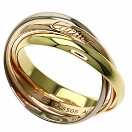 CARTIER 18K Pink Gold/18K Yellow Gold/18K White Gold Trinity XS Ring
