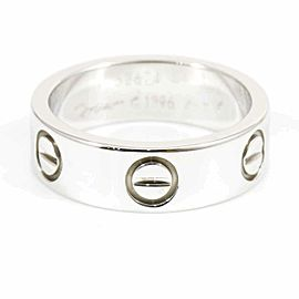 Cartier 18K White Gold Love Band Ring CHAT-136