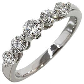 MIKIMOTO 0.44ct Diamond Design Ring in 18K White Gold US5.25