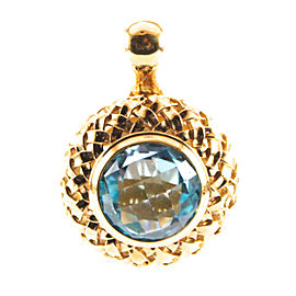 Slane 18K Yellow Gold and Sterling Silver with Blue Topaz Pendant