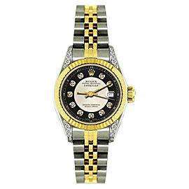 Rolex Datejust 18K Yellow Gold & Stainless Steel Diamond 26mm Watch
